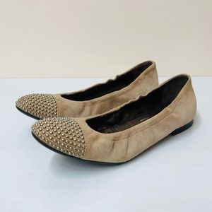 AGL Studded cap toe ballet flats 38